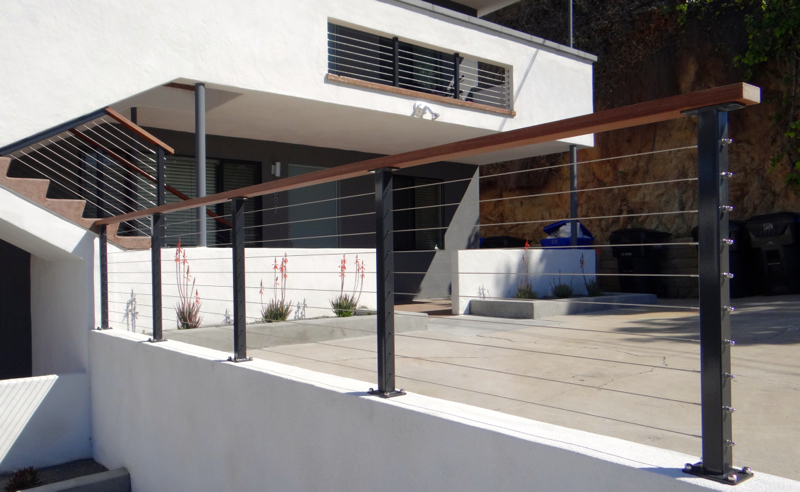 Powder Coated Railing Posts - (Galvanized)