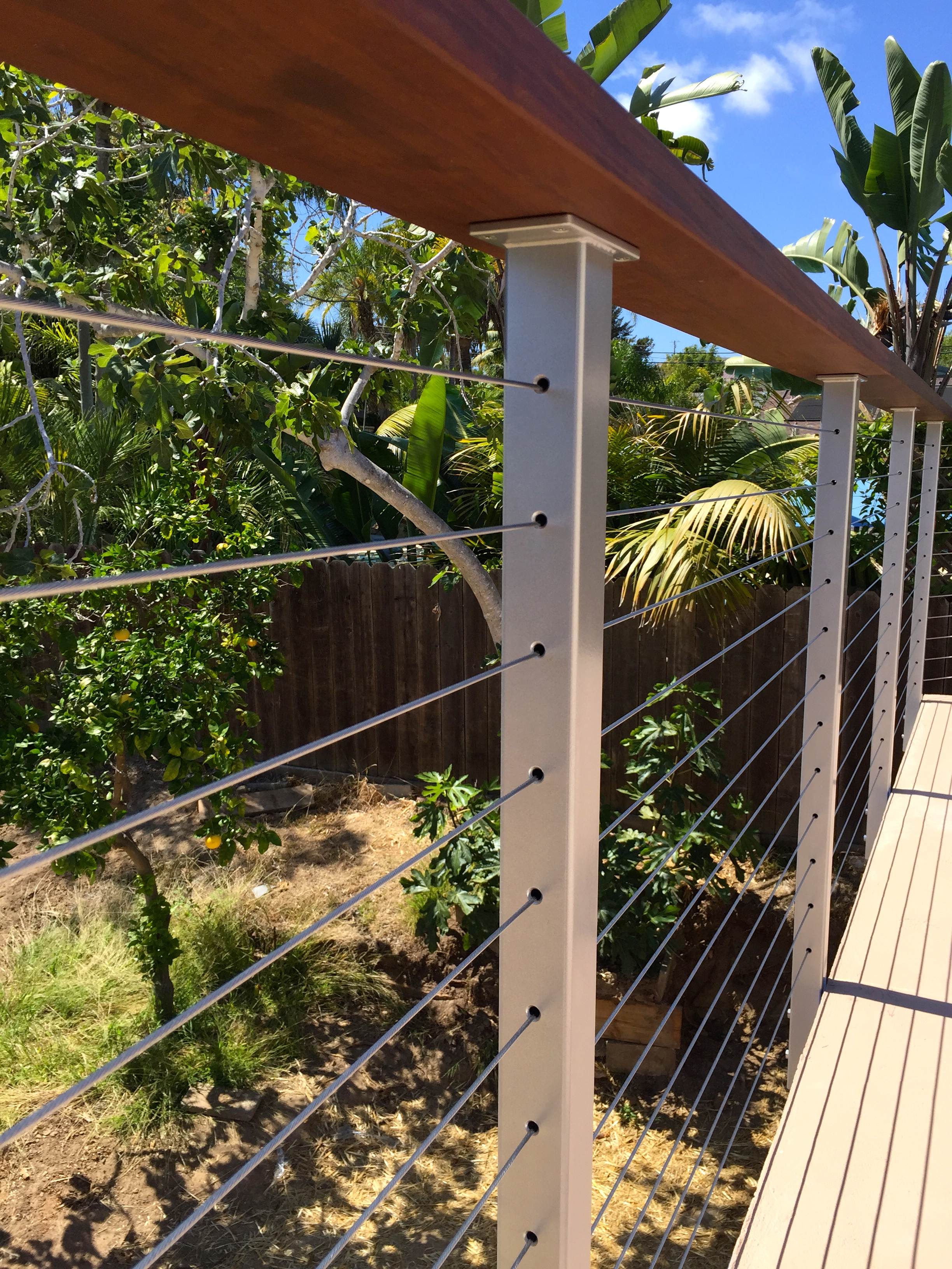 Stainless Steel Cable Railing Posts Powder Coated San