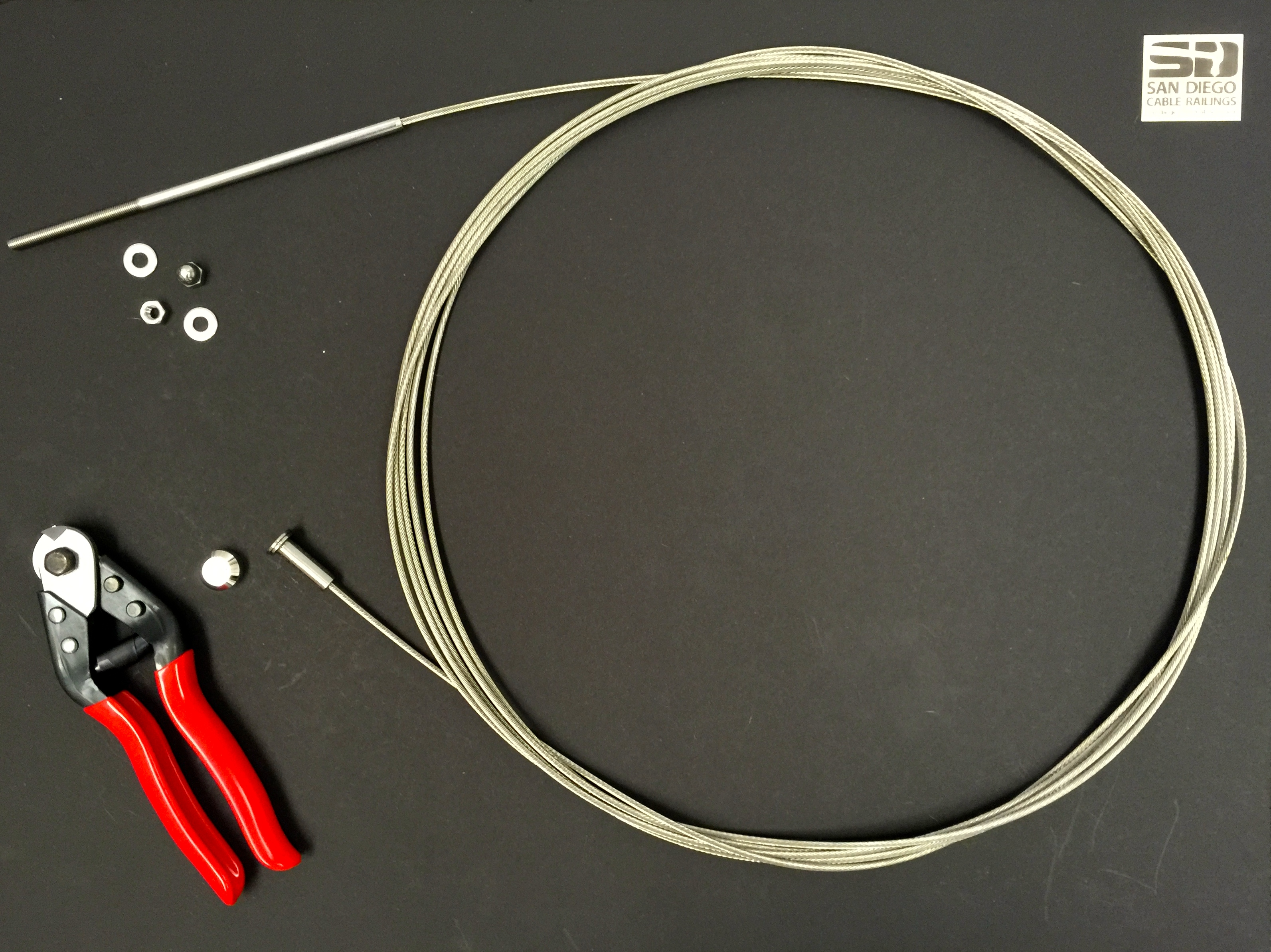 Diy cable assemblies san diego cable railings diy cable assembly 1 wood posts solutioingenieria Images