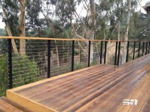 Cable railing kits san diego cable railings 800x600 11 hardwood cable railing kits cable deck railing solutioingenieria Choice Image