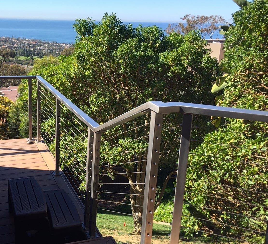 Steel cable railing systems san diego railings