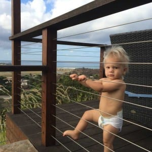 cable railings and child safety, stainless cable railings, the ladder effect