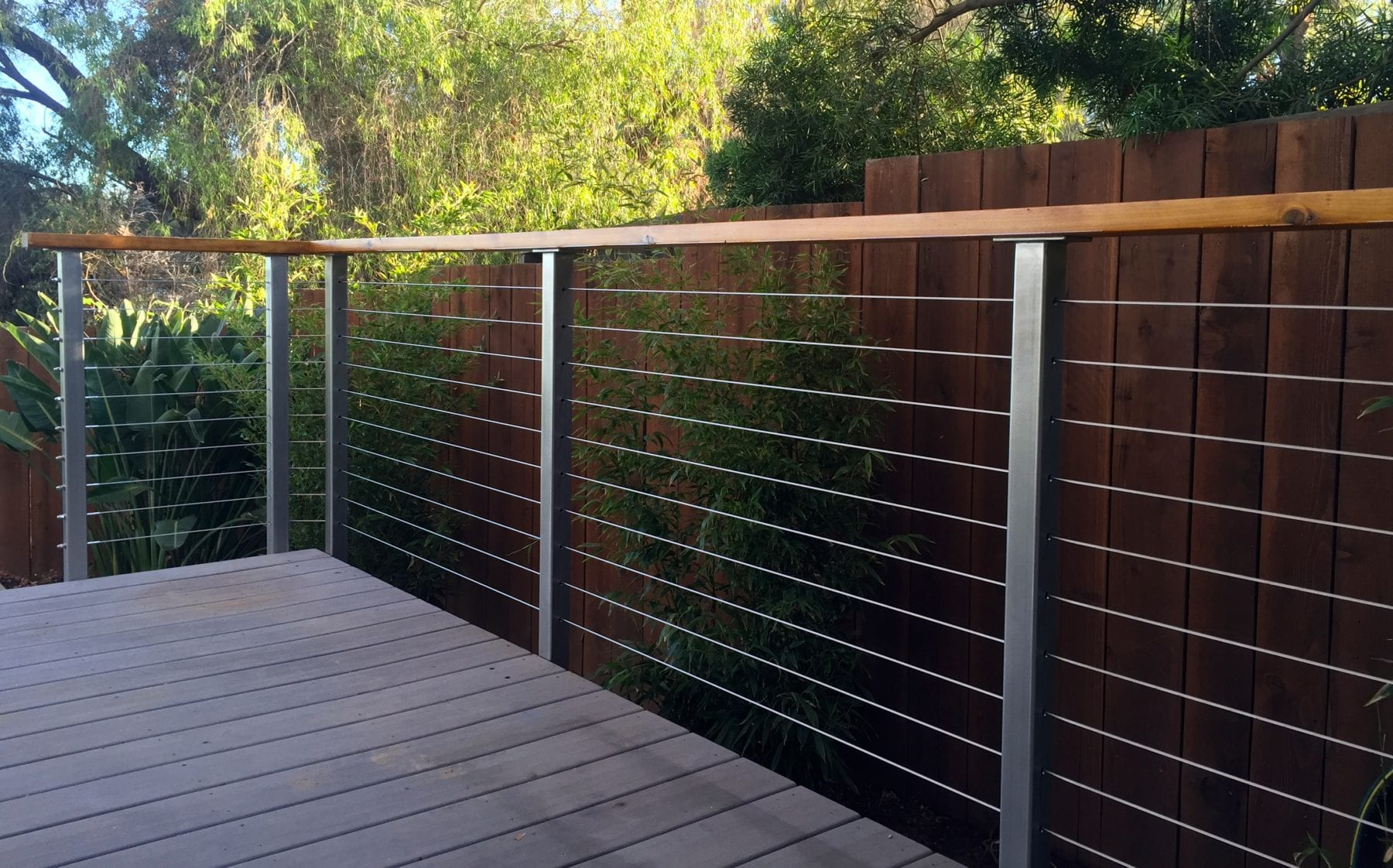 stainless steel deck railing posts - san diego cable railings