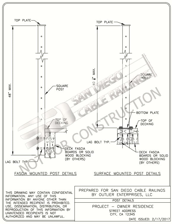 engineered cable railing systems, cable rail engineering, cable railing calculations