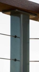 cable railings, welded railing posts