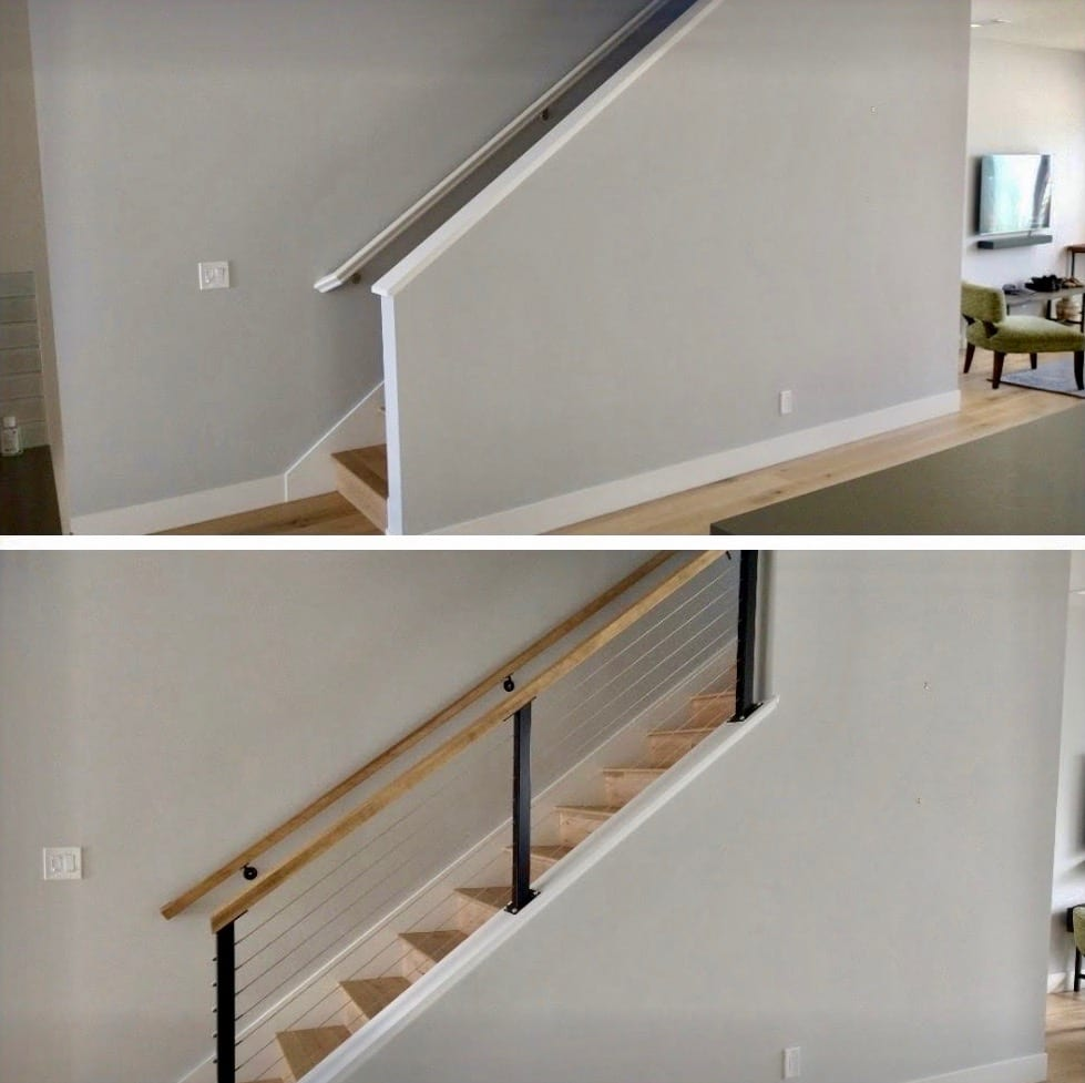 Replacing a Pony Wall With Modern Railings   San Diego Cable Railings